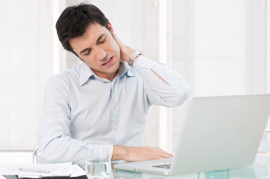 Céphalée de tension et migraine avec posture au travail